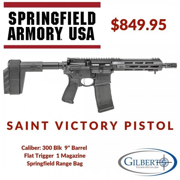 """Springfield Saint Victor 300 Blackout Pistol With 9"""" Barrel & Pistol Brace STV909300B"""