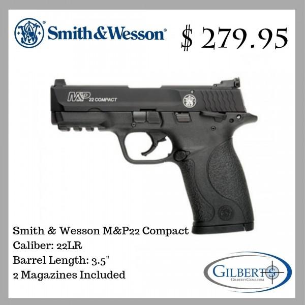 Smith & Wesson M&P22 Compact 22LR Pistol 108390