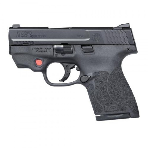 """Smith & Wesson M&P40 Shield M2.0 40 Caliber Pistol With 3.1"""" Barrel & Integrated Crimson Trace Red Laser 11674"""