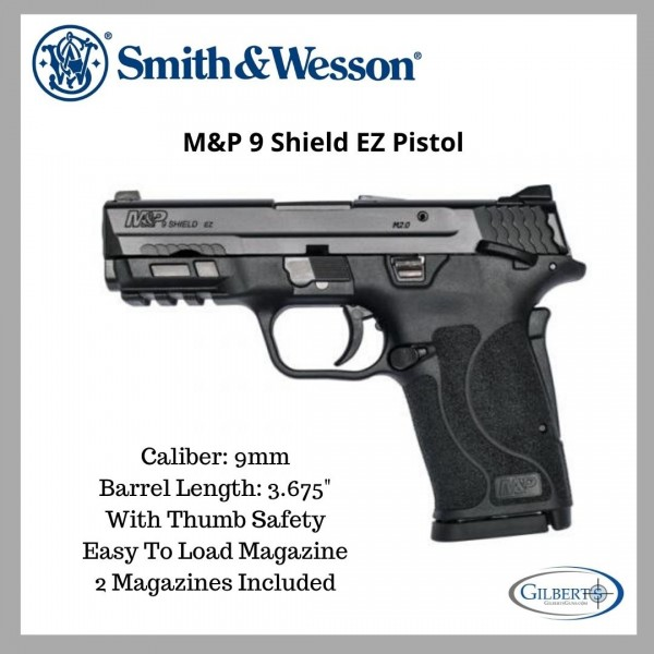 Smith & Wesson M&P 9 Shield EZ Manual Safety Pistol 12436
