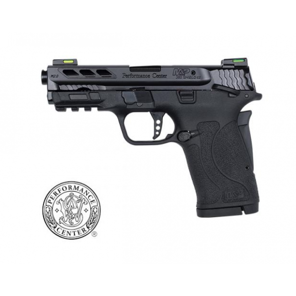 Smith & Wesson Performance Center M&P380 Shield EZ 2.0 Pistol With Ported Barrel, Tritium Night Sights, PC Flat Trigger & Ambi Safety 12717.