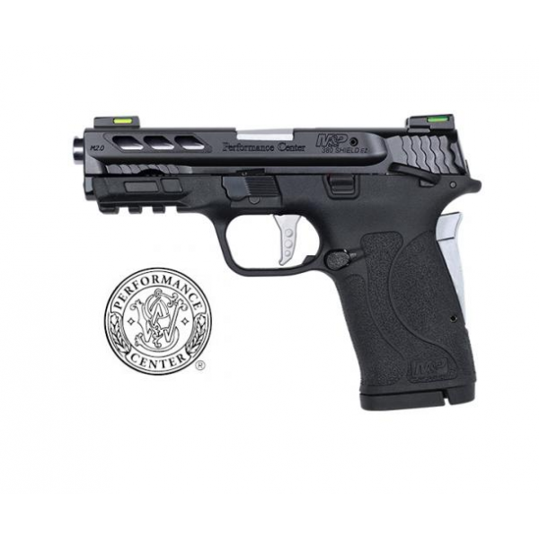 Smith & Wesson Performance Center Silver M&P380 Shield EZ 2.0 Pistol With Ported Barrel