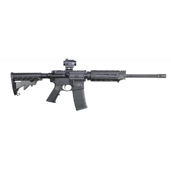 Smith & Wesson M&P15 Sport II 5.56 Rifle With Magpul MOE M-LOK Carbine Length Handguard & Crimson Trace Green / Red Optic 12939