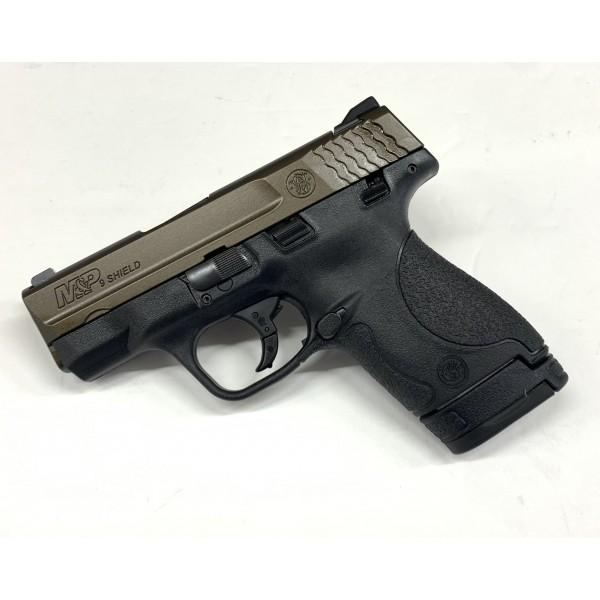 Smith & Wesson M&P Shield 9mm Pistol With Midnight Bronze Slide 13299