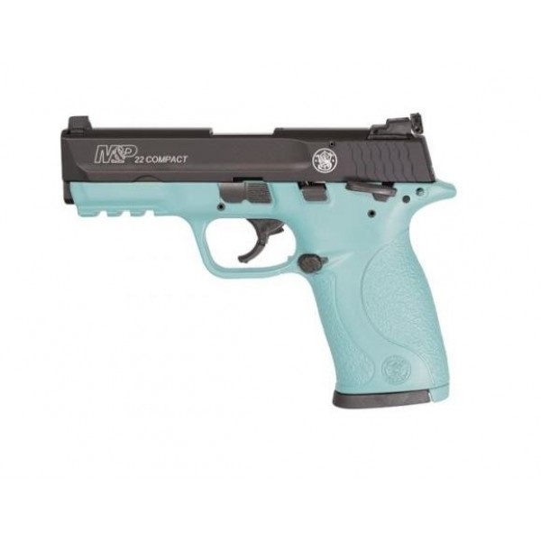 Smith & Wesson M&P22 Compact Robin's Egg Blue 22LR Pistol 13300
