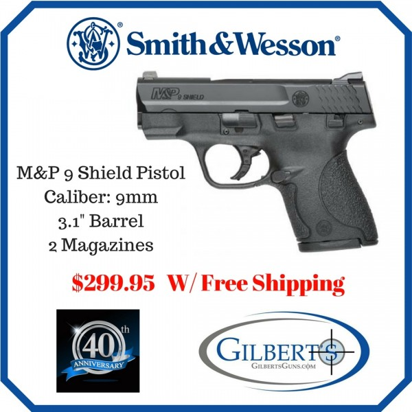 Smith & Wesson 180021 M&P Shield 9mm Concealed Carry Handgun