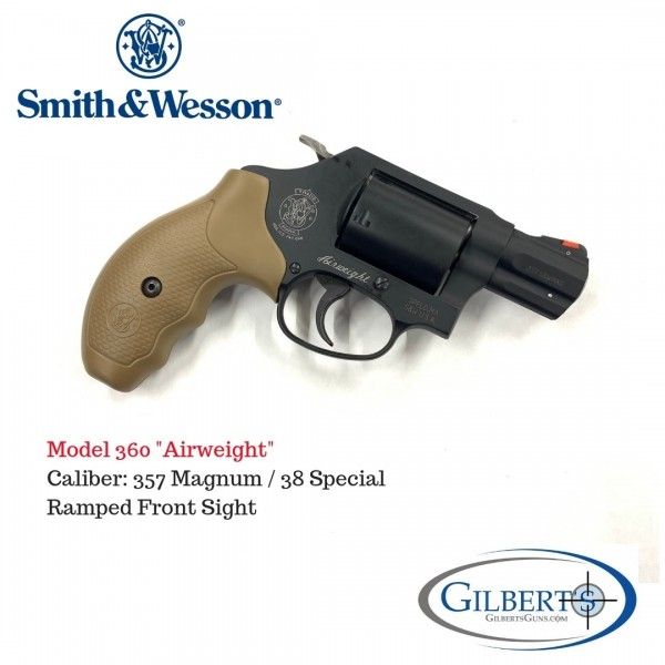 Smith & Wesson Model 360 357 Airweight Revolver With Unfluted Cylinder 11749
