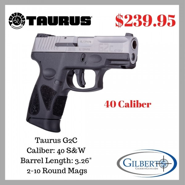 Taurus G2C 40 Caliber Stainless Steel Pistol 1-G2C4039-10