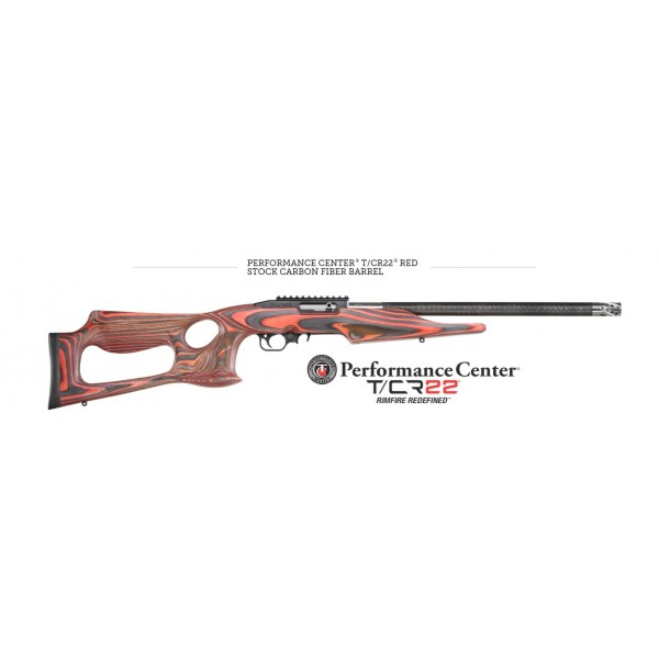 Thompson Center Performance Center T/CR 22LR Rifle With Carbon Fiber Wrapped Barrel & Red Laminate Thumbhole Stock