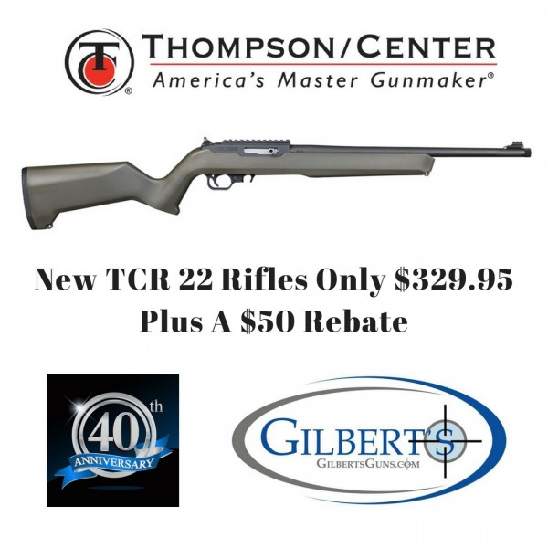 "Thompson Center TCR 22 Semi Automatic Rifle With Green Composite Stock & 17"" Threaded Barrel 12299"