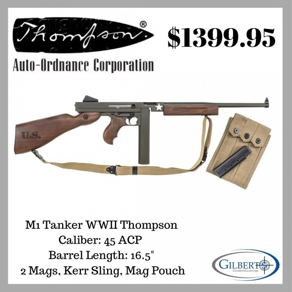 Thompson M1 Tanker WWII 45 ACP Rifle
