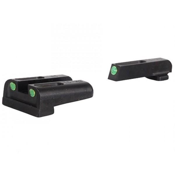 Truglo TG131GT1A TFO Tritium Fiber Optic Night Sights for GLOCK 43 & 42 Pistols