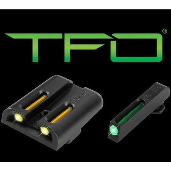 Truglo TG131GT1Y TFO Tritium Fiber Optic Night Sights for GLOCK Pistols (Green / Yellow)
