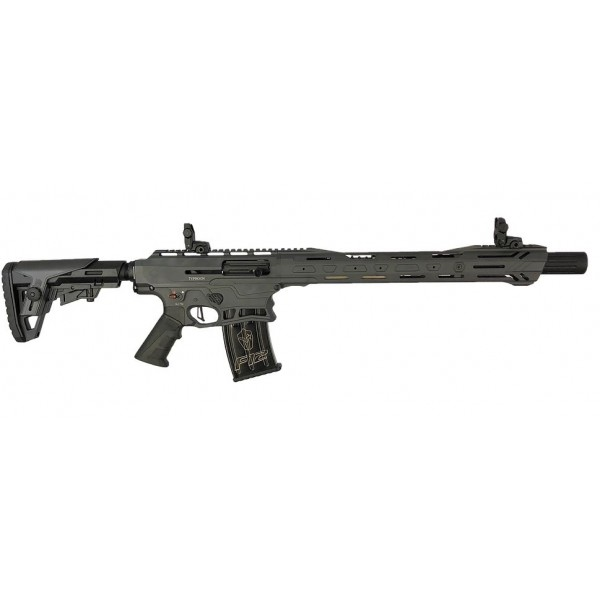 "Typhoon Defense F12 Grey Sport 12 Gauge With 18.5"" Barrel, 3 Mags, Fixed Stock & Collapsible Stock"