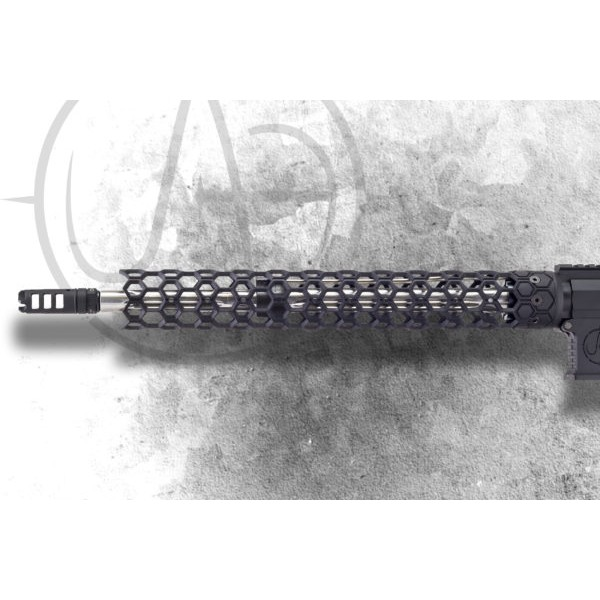 "Unique AR's Small Hex 15"" Free Float Forend"