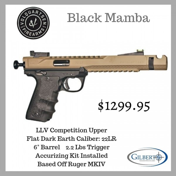 Volquartsen Black Mamba FDE 22LR Competition Pistol