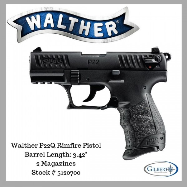 "Walther P22Q 22LR Pistol With 3.42"" Barrel 5120700"