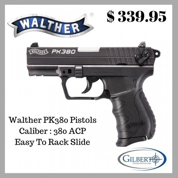 "Walther PK380 380 ACP Pistol With 3.66"" Barrel & 1 Magazine 5050308"