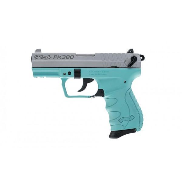Walther 5050325 PK380 Silver Angel Blue 380 Pistol