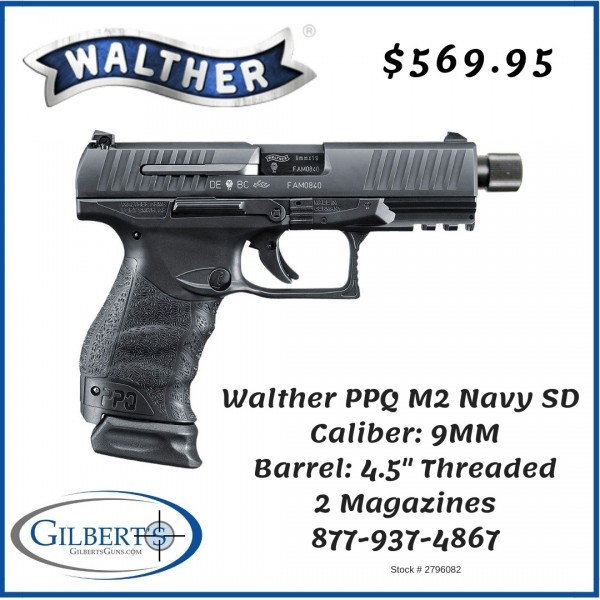 Walther PPQ M2 Navy SD 9mm Pistol 2796082