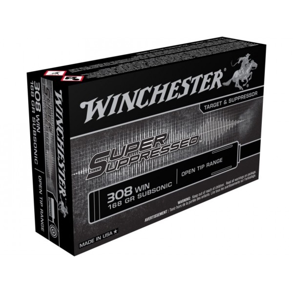 Winchester Super Suppressed 308 168 Grain Subsonic Ammunition SUP308