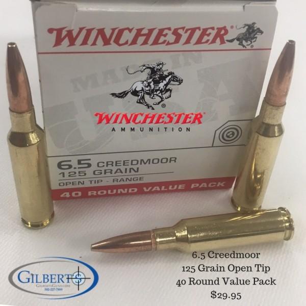Winchester 6.5 Creedmoor 125 Grain Open Tip Range Ammunition USA65CMXL (40 Rounds)