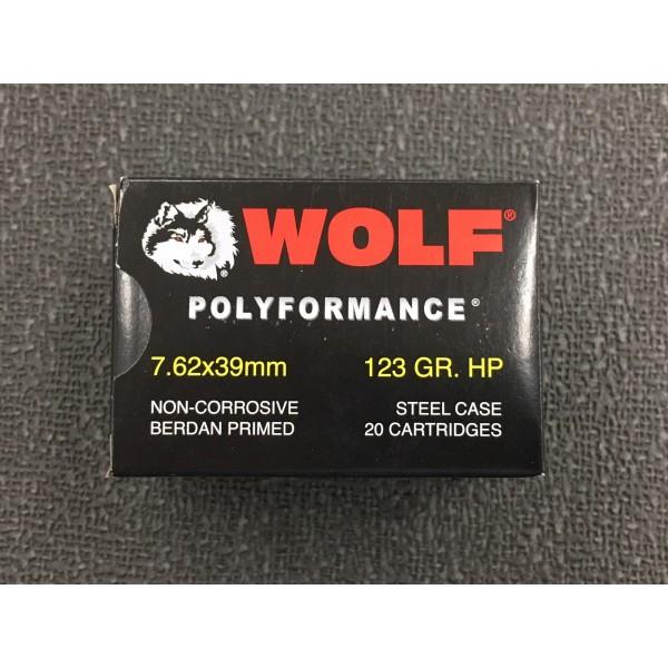Wolf Polyformance 7.62x39 123 Grain HP Ammunition (20 Rounds)