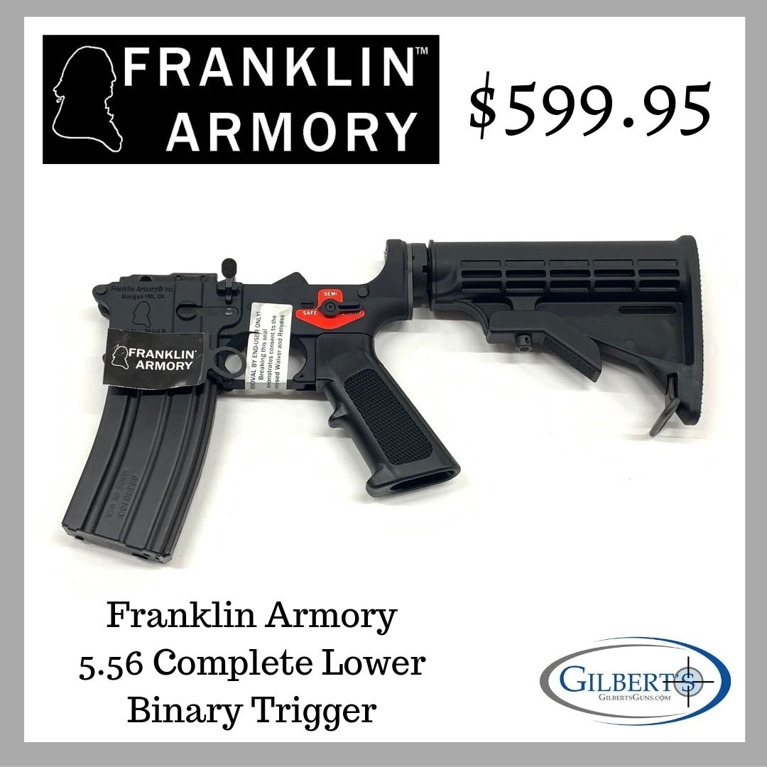 Franklin Armory Complete 5 56 Lower With Binary Trigger