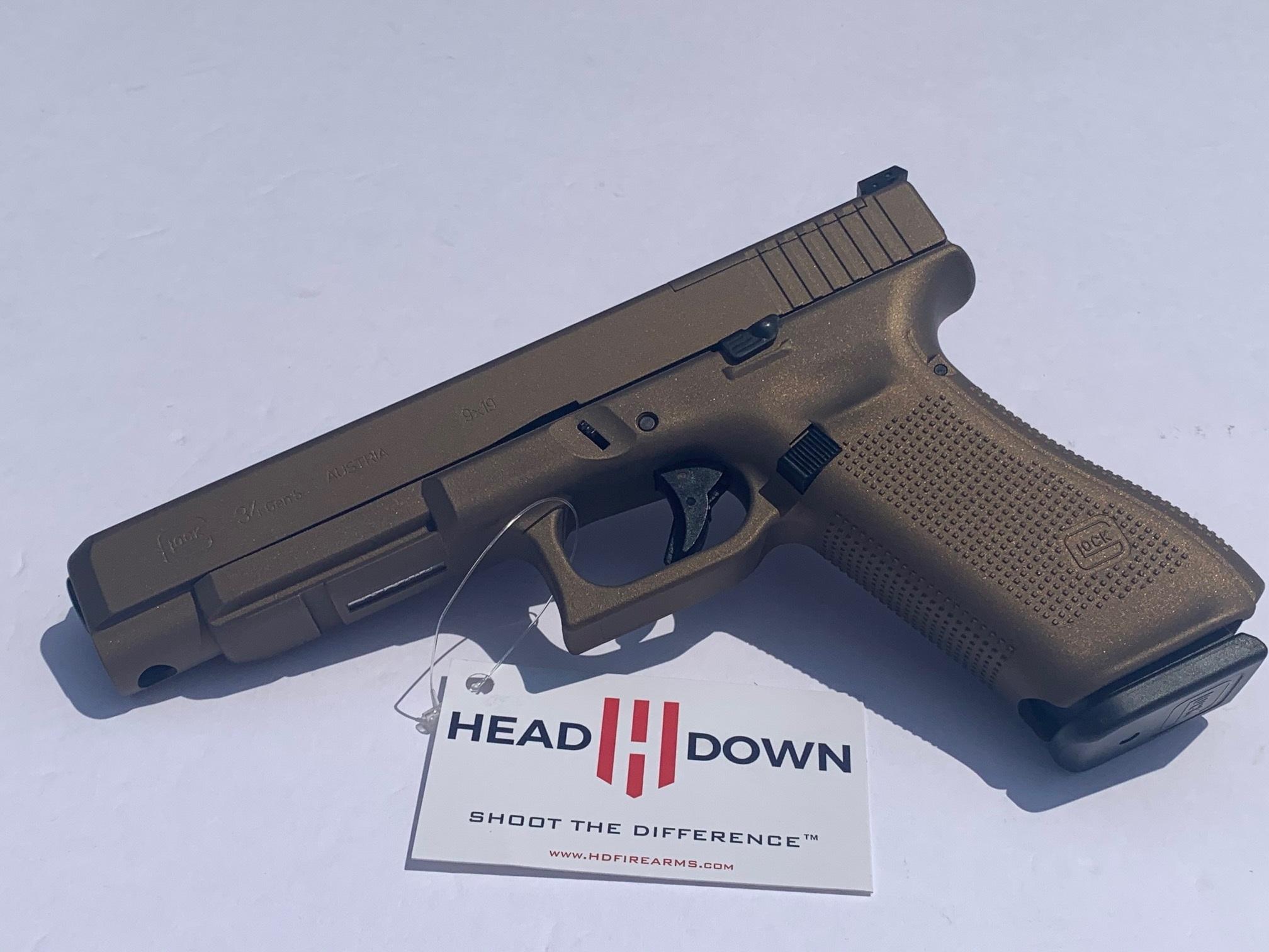 GLOCK 34 Gen 5 MOS 9mm Burnt Bronze Pistol PA3430103MOSBB
