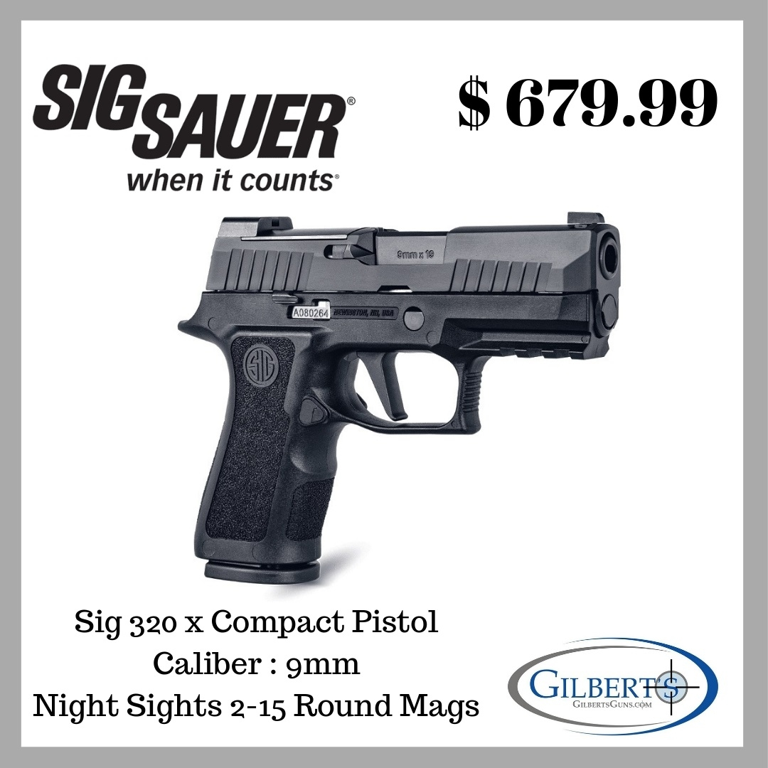 Sig 320X Compact 9mm Pistol With 3 6