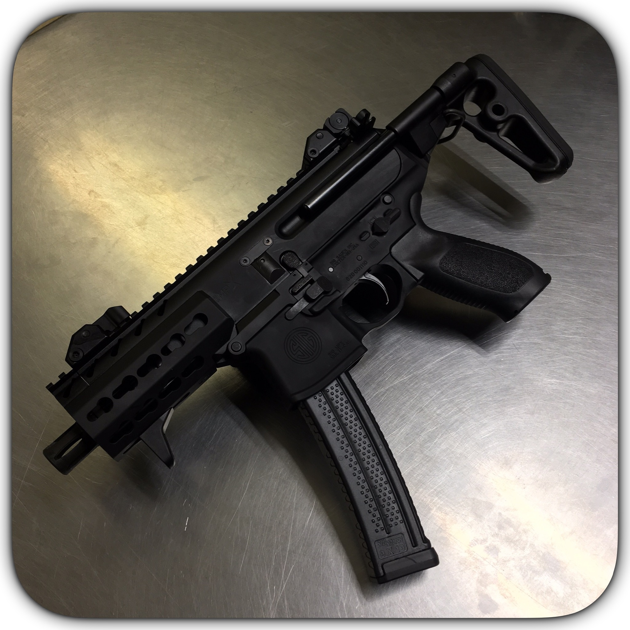 Sig MPX 9mm SBR With 4 5