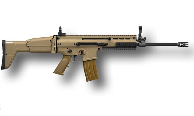 FN SCAR16S 5.56 Rifle In Flat Dark Earth